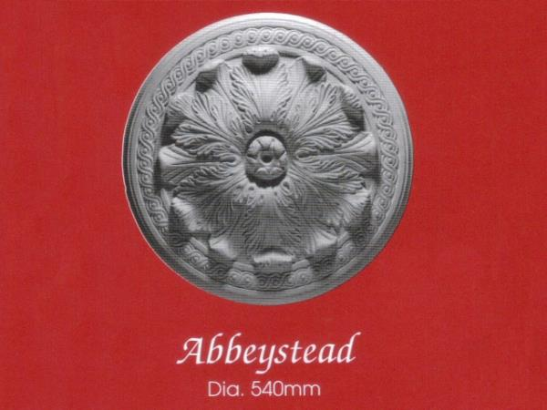 Plaster Centrepiece (Ceiling Rose) - Abbeystead - Diameter 540mm