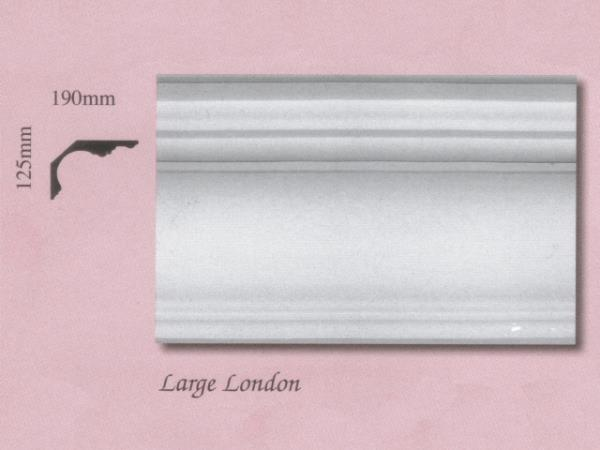 Plaster Panel Cornice (Coving) - Large London - 125mm x 190mm