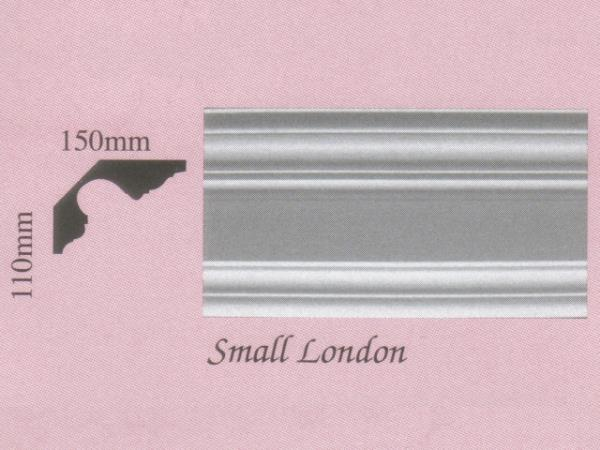 Plaster Panel Cornice (Coving) - Small London - 110mm x 150mm
