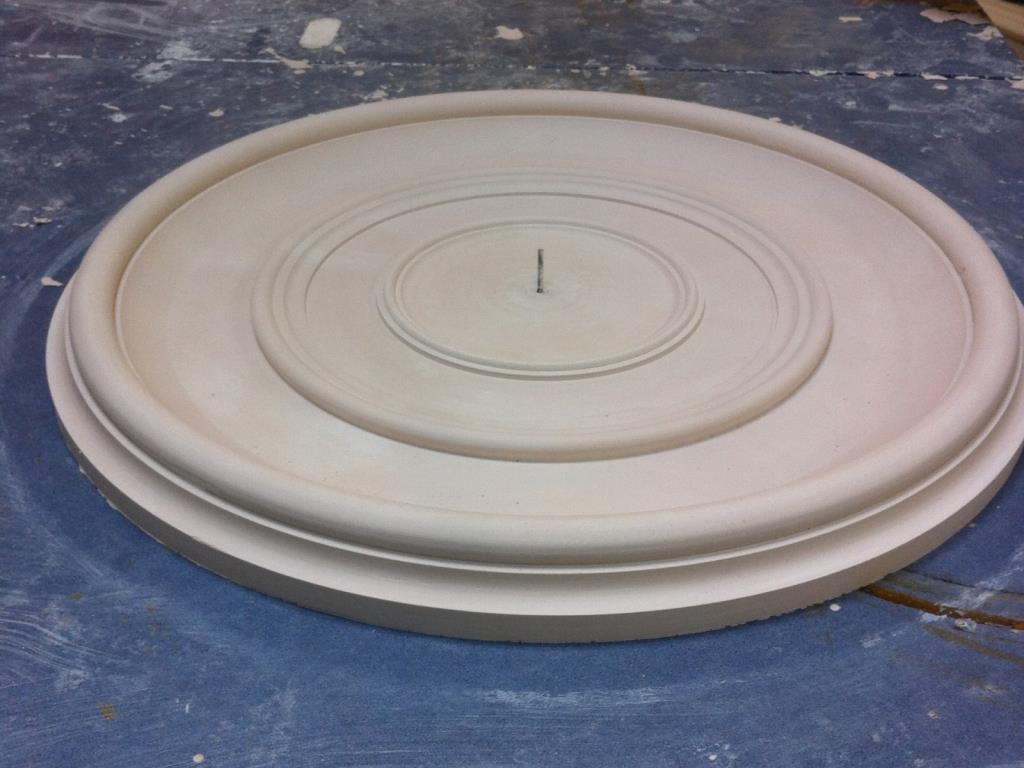 Bespoke Plaster Centrepiece (6 of 6) - Ceiling rose finished to customer's own design