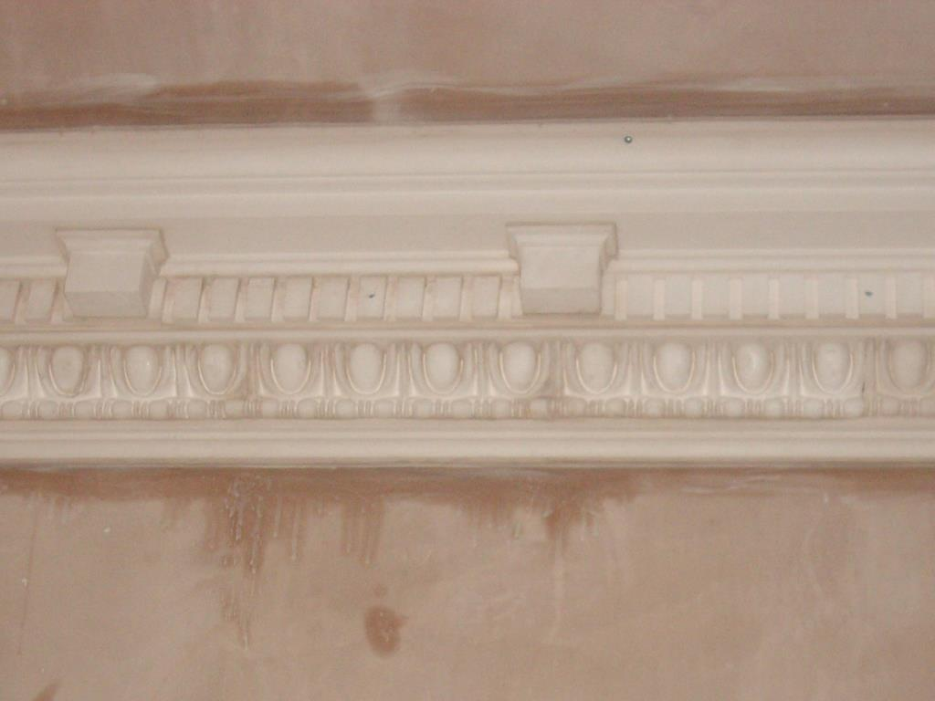Bespoke Plaster Cornices (3 of 5) - Further addition of large egg and dart plaster mouldings with decorative medallions