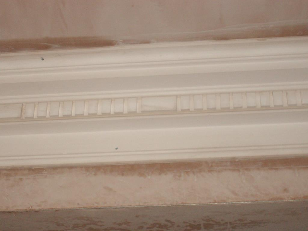 Bespoke Plaster Cornices (2 of 5) - Addition of central band of decorative dentil plaster mouldings