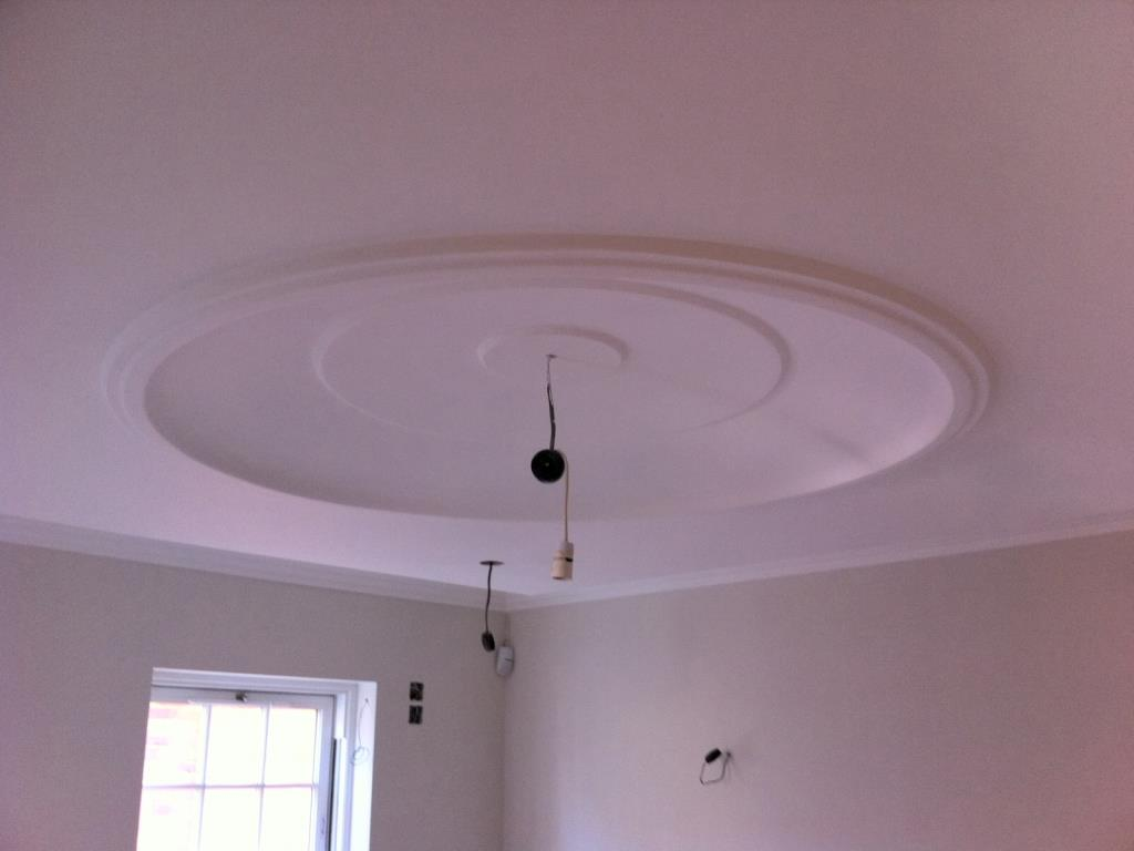 4ft plaster dome centrepiece installed to a private house in Blackpool