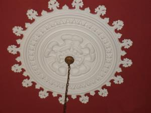 Photo - Ornate plaster centrepiece installed to Linden Hall in Lancashire